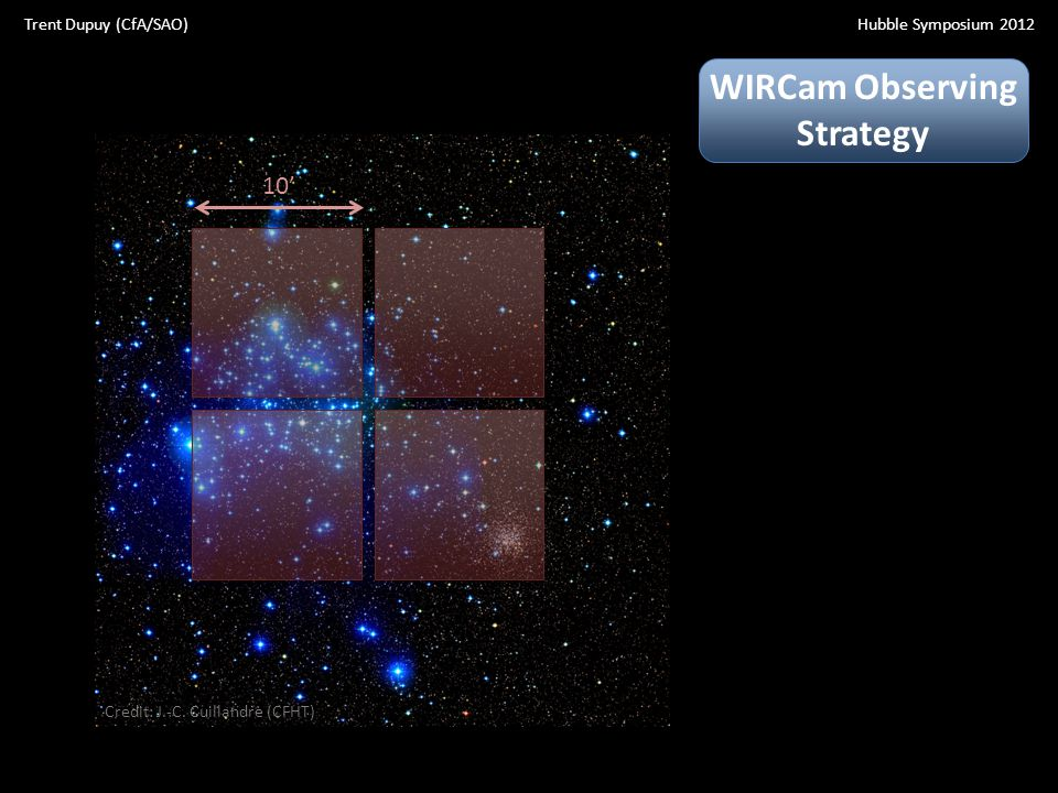 10' WIRCam Observing Strategy Credit: J.-C.