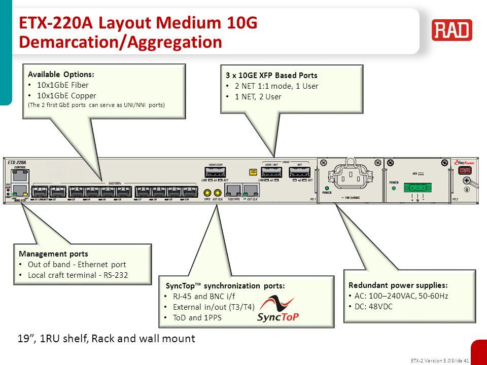 ETX-2 Version 5.0 Slide 42 Appendix B: MEF Certificates