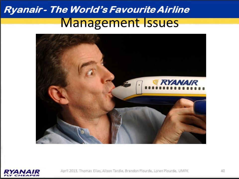 Management Issues April 2013, Thomas Elias, Alison Tardie, Brandon Plourde, Loren Plourde, UMFK40