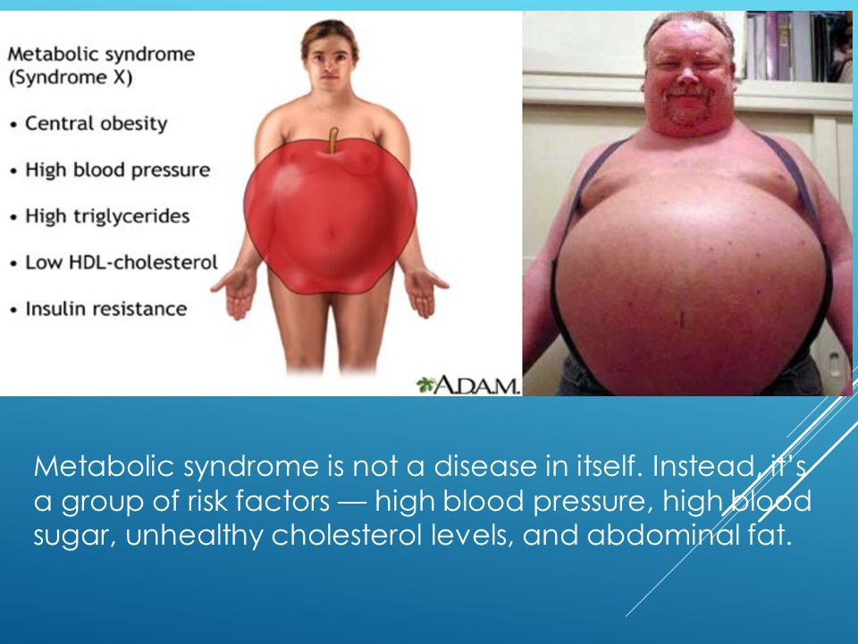 Metabolic syndrome is not a disease in itself.