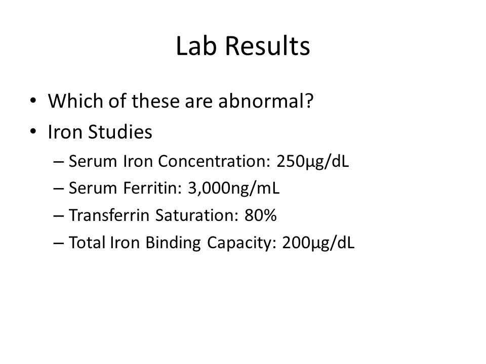 Lab Results Which of these are abnormal.