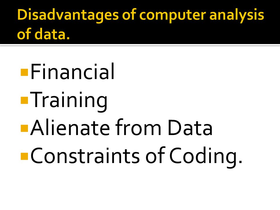  Financial  Training  Alienate from Data  Constraints of Coding.