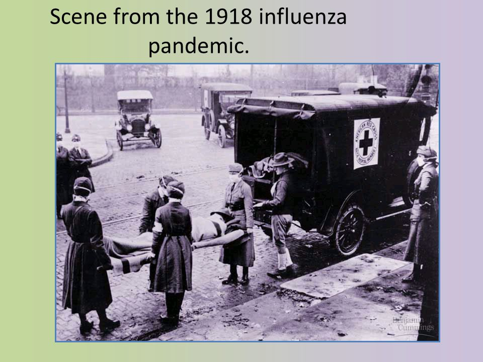 Scene from the 1918 influenza pandemic.