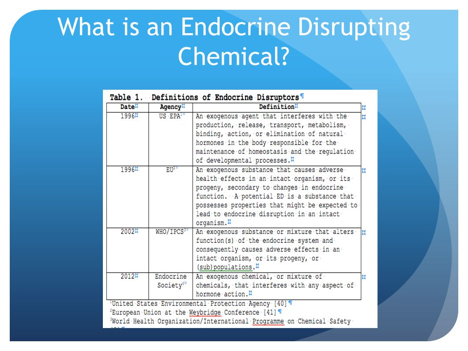 What is an Endocrine Disrupting Chemical