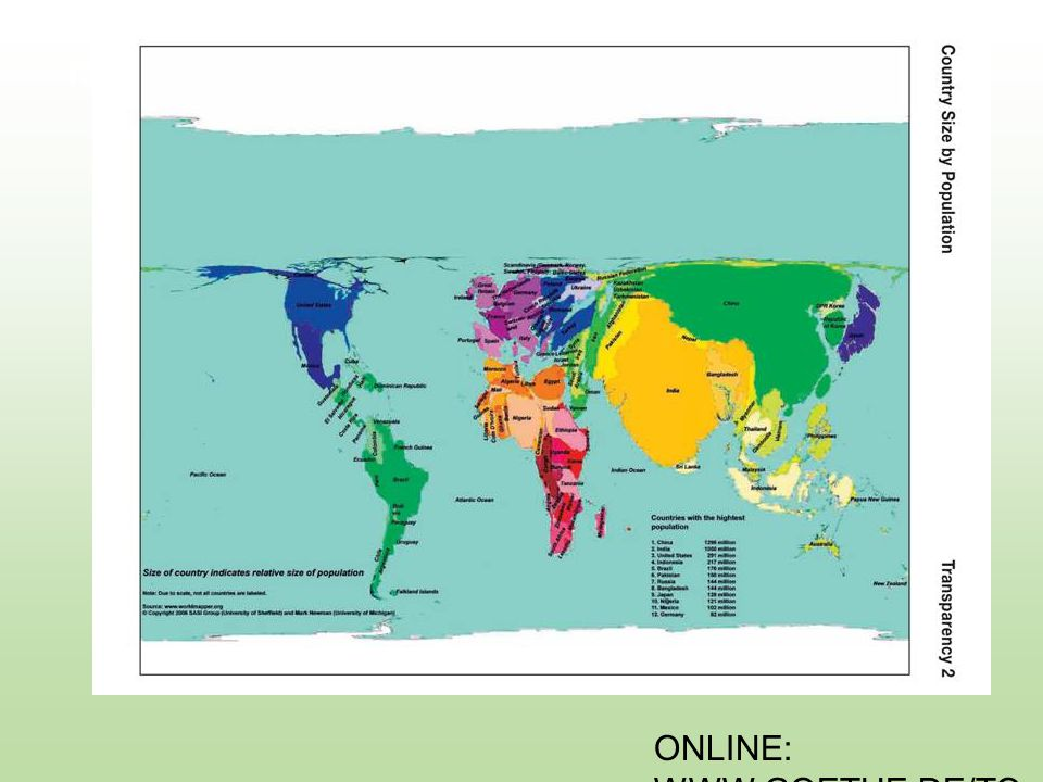 ONLINE: WWW.GOETHE.DE/TO P T3: Country Size by GDP