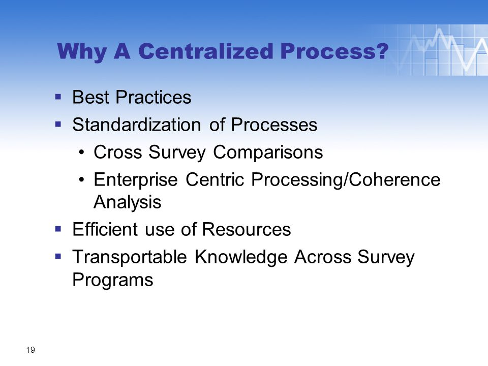 Why A Centralized Process.