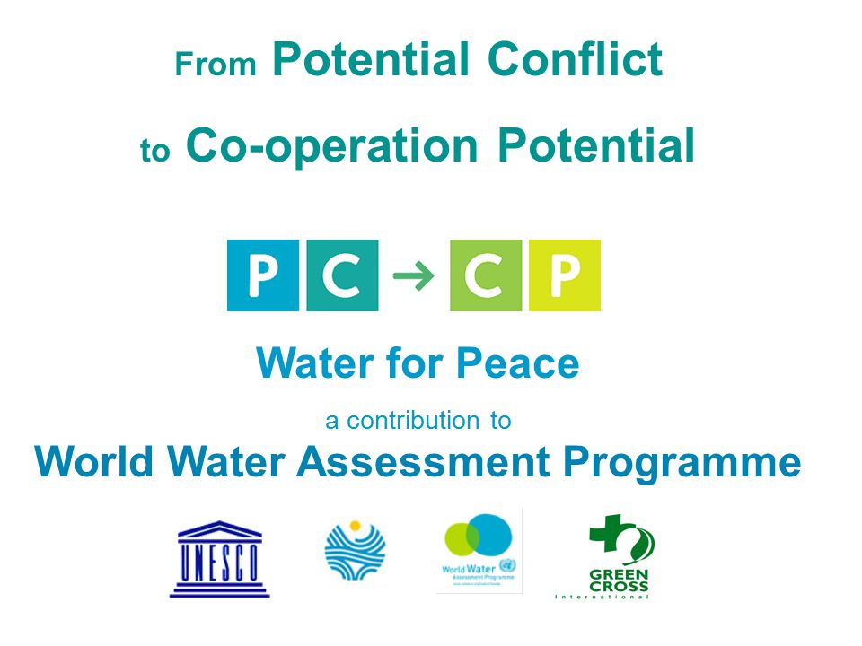 From Potential Conflict to Co-operation Potential Water for Peace a contribution to World Water Assessment Programme