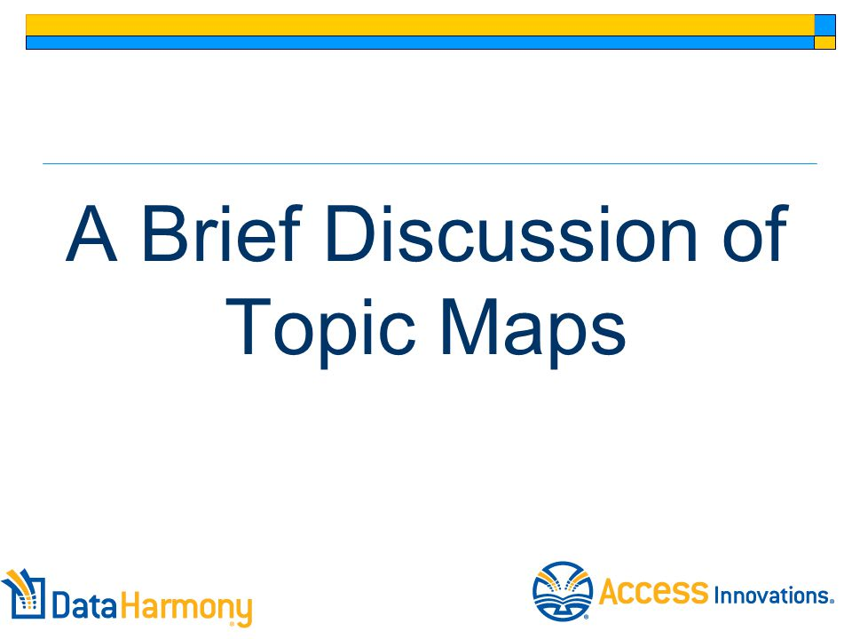 A Brief Discussion of Topic Maps