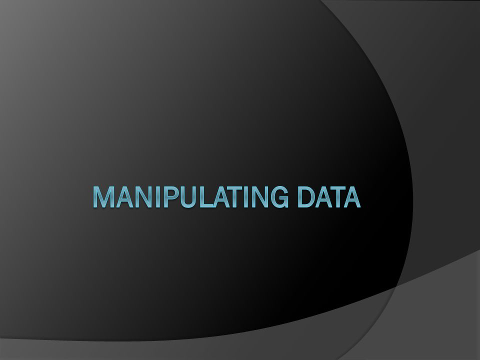 Data Manipulation Language  DML commands are used to change/manipulate data in the database.