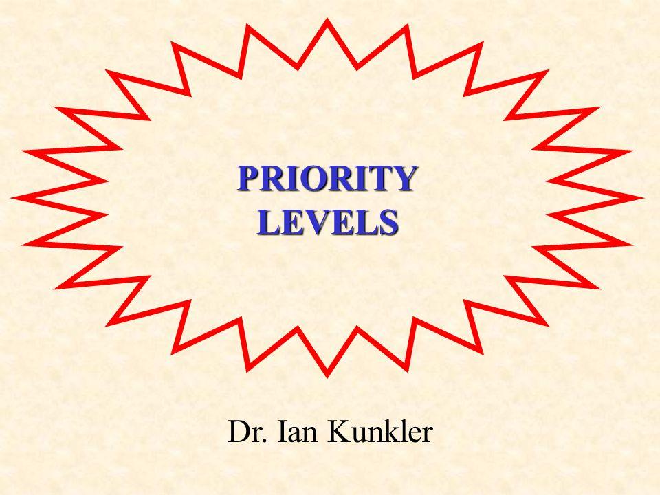 PRIORITYLEVELS Dr. Ian Kunkler