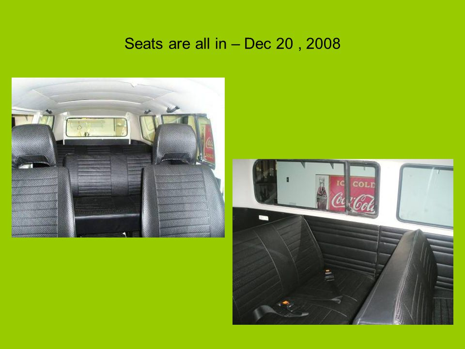 Seats are all in – Dec 20, 2008