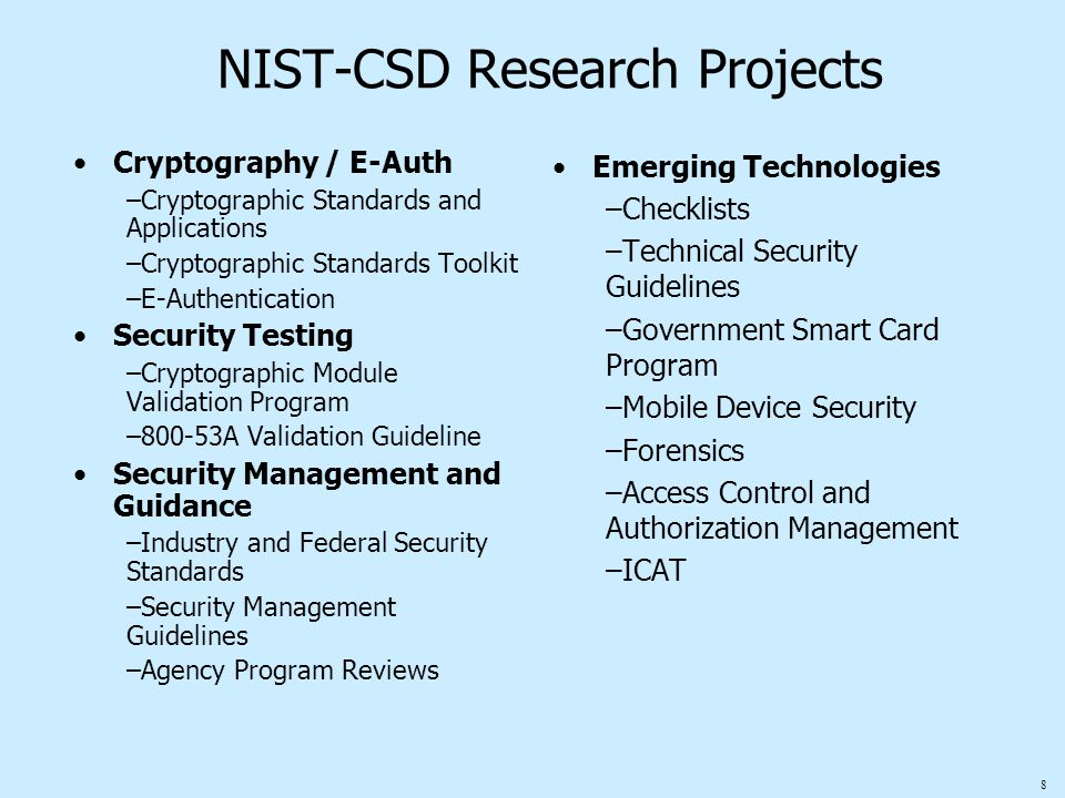 49 Security Checklists for Commercial IT Products About Checklists Search the Security Checklist Database Under the Cyber Security Research and Development Act, NIST is charged with developing security checklists.