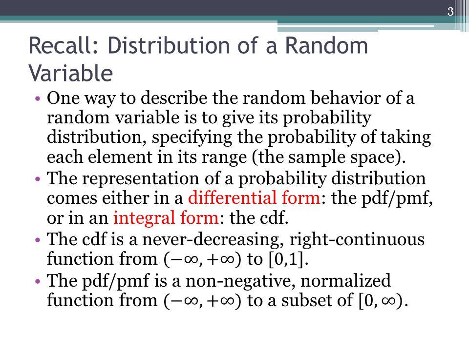 Recall: Distribution of a Random Variable 3