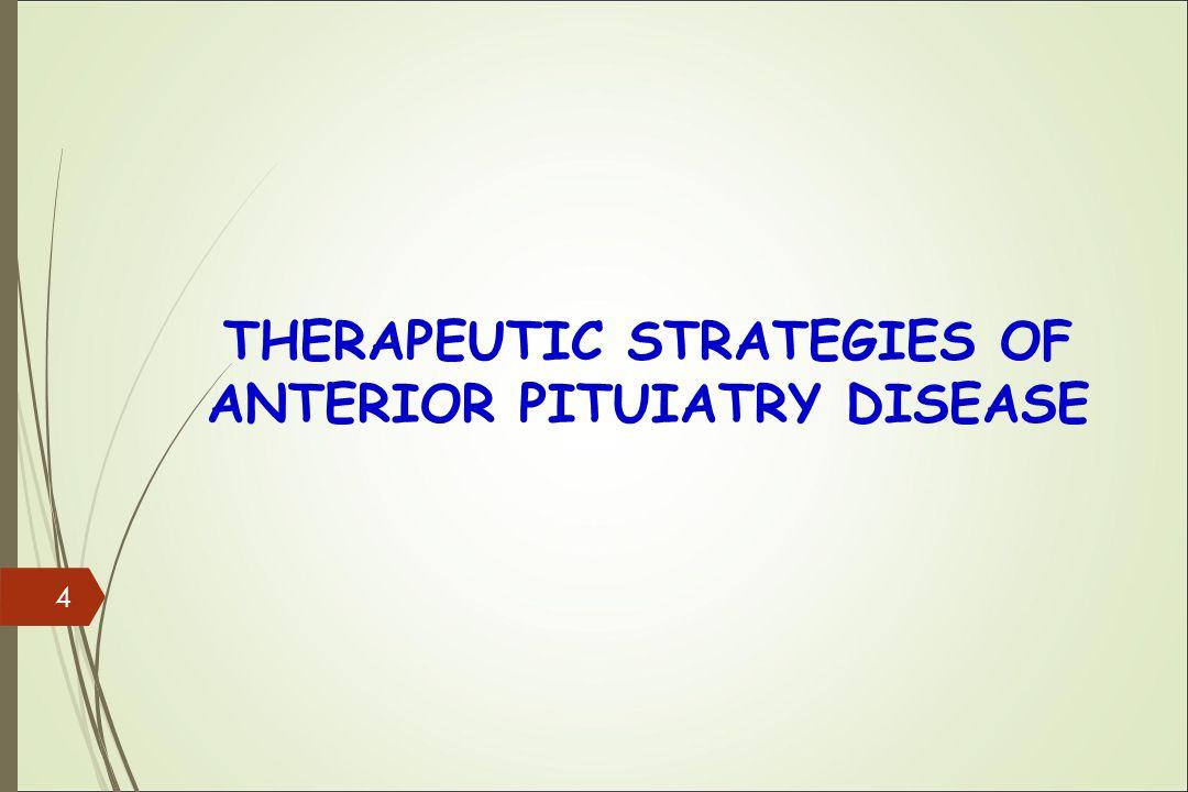 THERAPEUTIC STRATEGIES OF ANTERIOR PITUIATRY DISEASE 4
