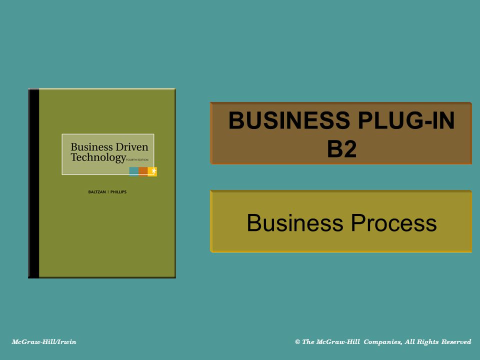McGraw-Hill/Irwin © The McGraw-Hill Companies, All Rights Reserved BUSINESS PLUG-IN B2 Business Process