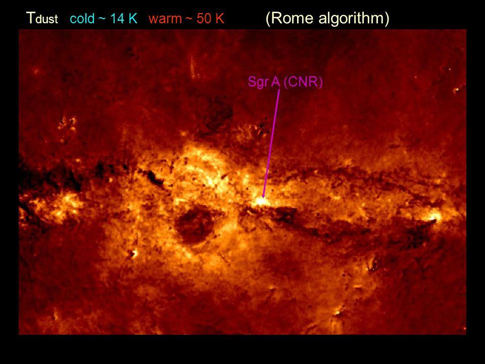 T dust cold ~ 14 K warm ~ 50 K (Rome algorithm) Sgr A (CNR)