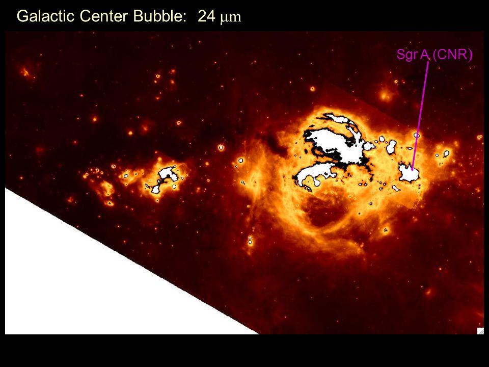 Galactic Center Bubble: 24  m Sgr A (CNR )