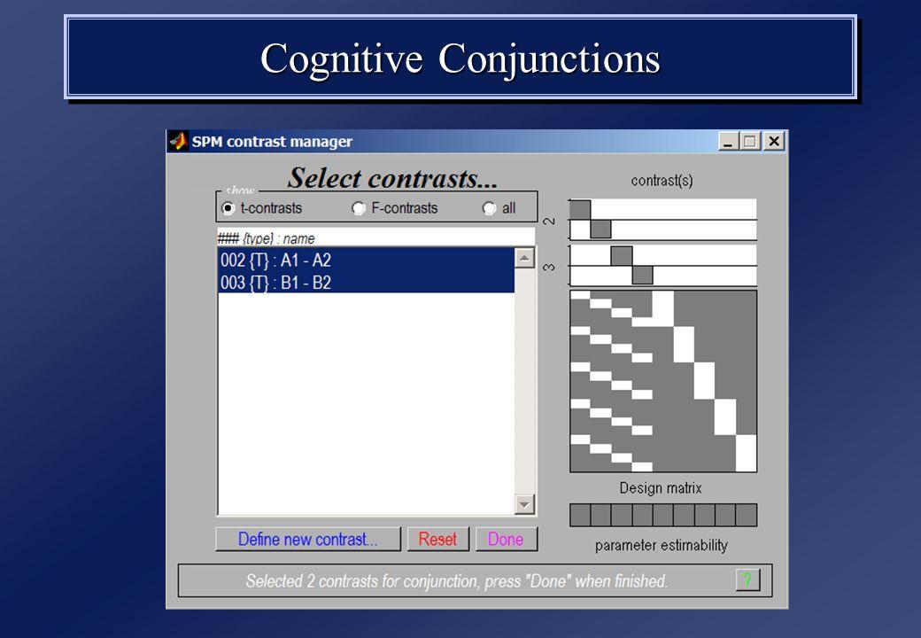 Cognitive Conjunctions