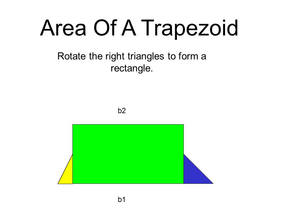 b2 b1 Area Of A Trapezoid Rotate the right triangles to form a rectangle.
