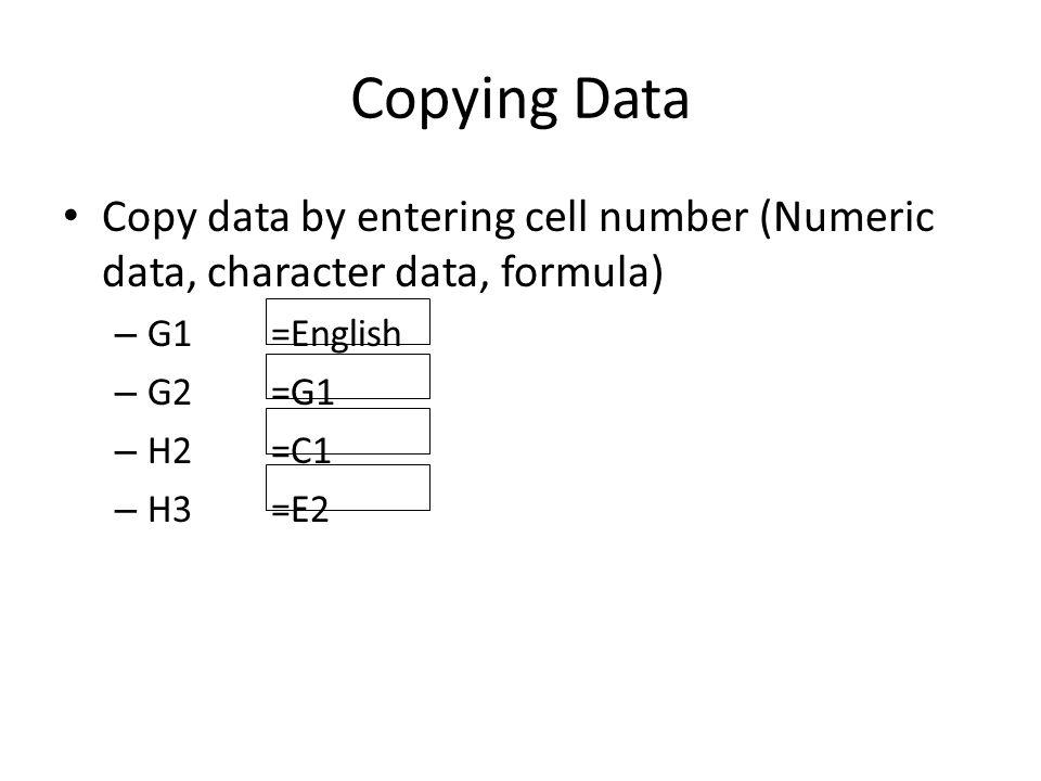 Comparing data Comparison – A15=10>3 – B15=10<3 – C15=(10*2)<3 – D15=C1>C2 – E16=C7>E2 Result is TRUE or FALSE