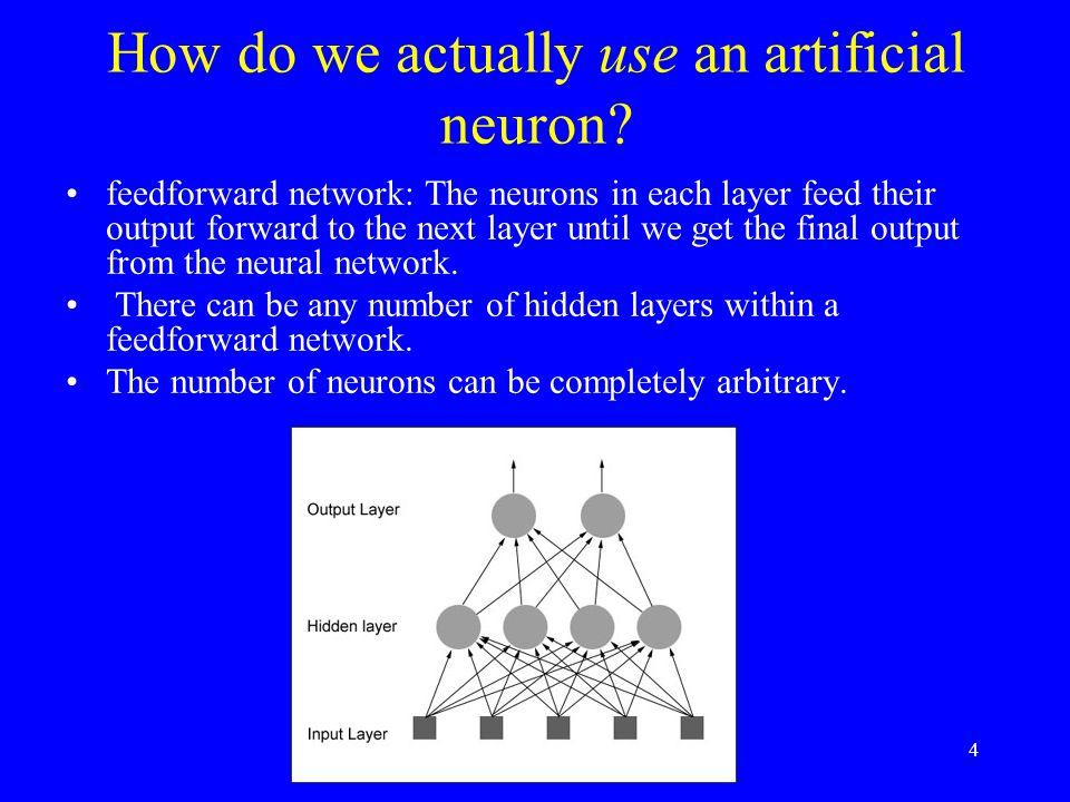 How do we actually use an artificial neuron.