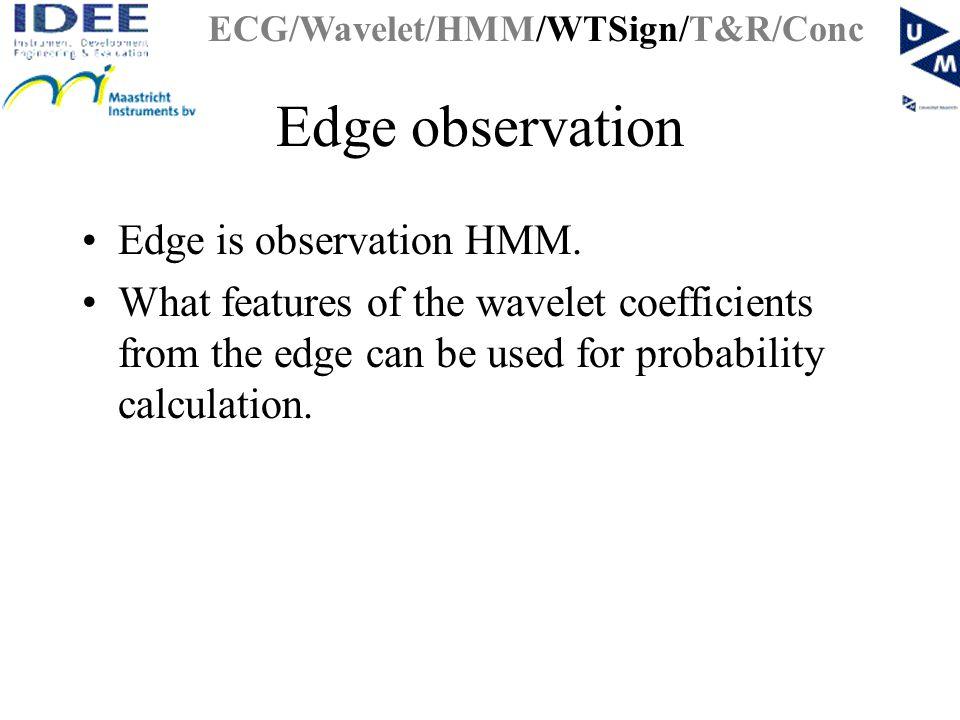 Edge observation Edge is observation HMM.