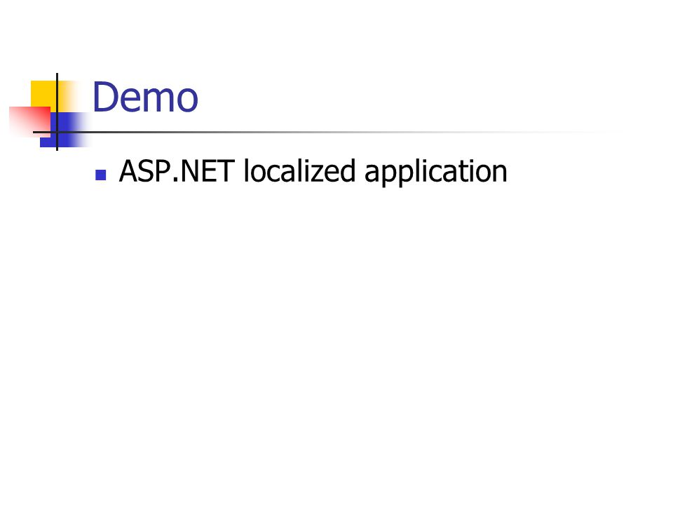Demo ASP.NET localized application