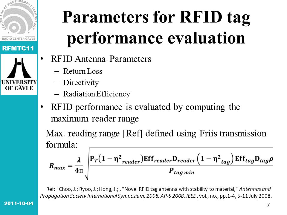 RFMTC11 Ref: Choo, J.; Ryoo, J.; Hong, J.;,