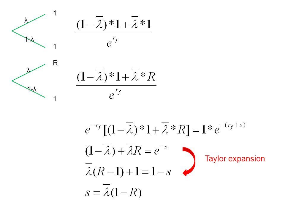 1 1 R 1 λ 1-λ λ Taylor expansion