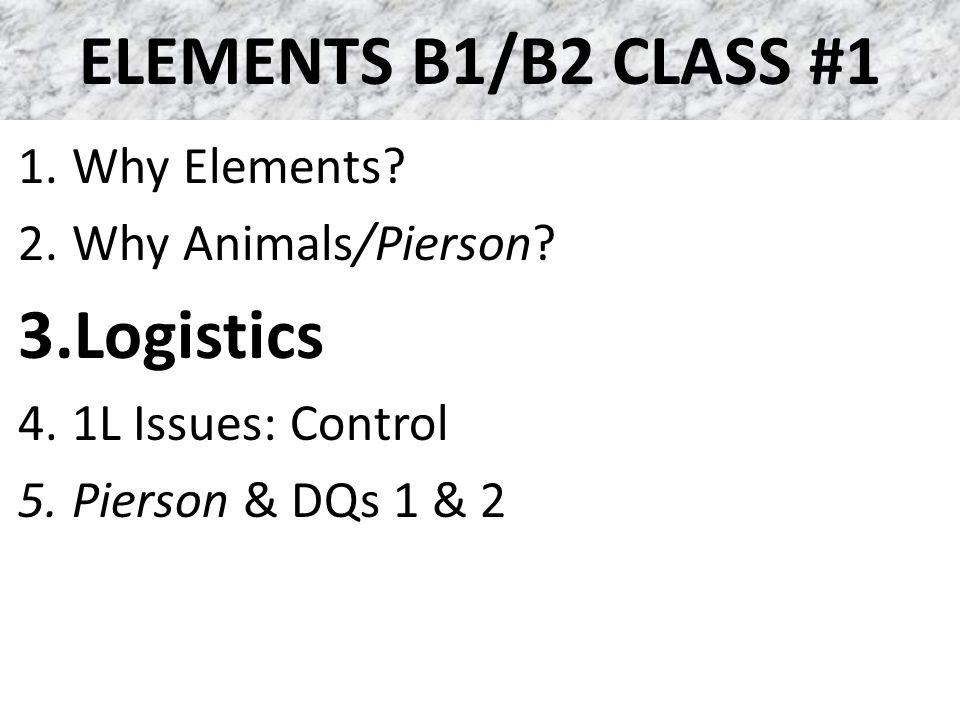 ELEMENTS B1/B2 CLASS #1 Steps to Feel More in Control Hurricane Season: – Getting Good Information – Preparation