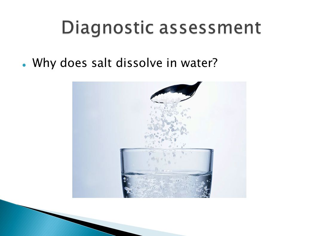 Why does salt dissolve in water?