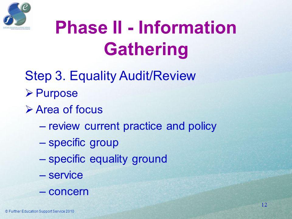 Phase II - Information Gathering Step 3.