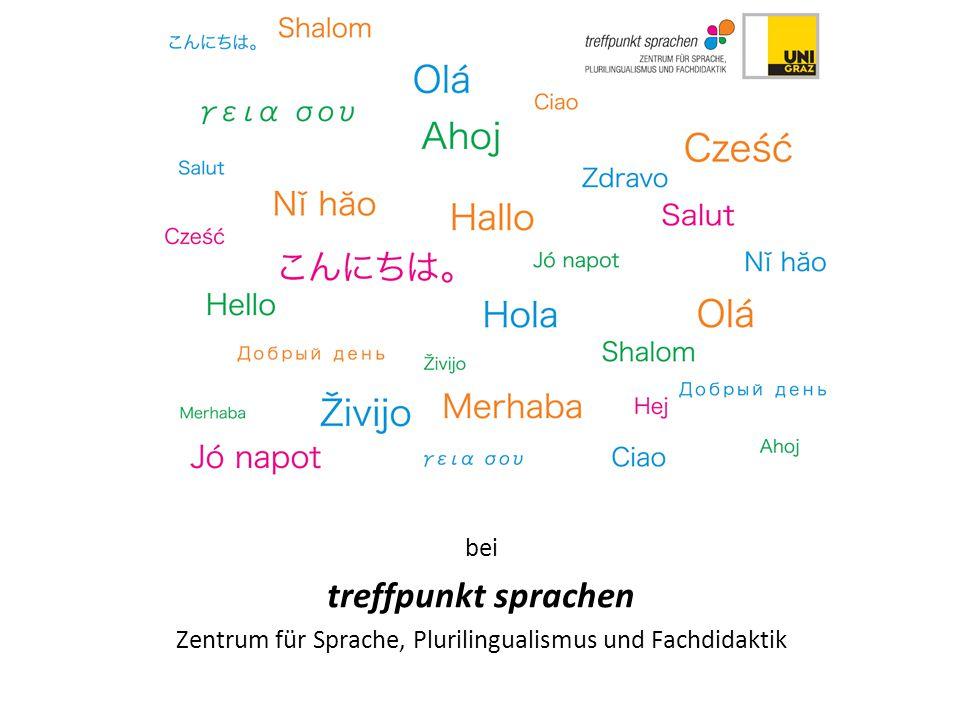 bei treffpunkt sprachen Zentrum für Sprache, Plurilingualismus und Fachdidaktik