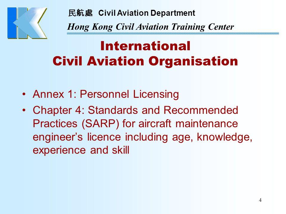 民航處 Civil Aviation Department Hong Kong Civil Aviation Training Center 5 Air Navigation (Hong Kong) Order 1995 Article 11 - Certificate of Release to Service Article 12 - Licensing of maintenance engineer