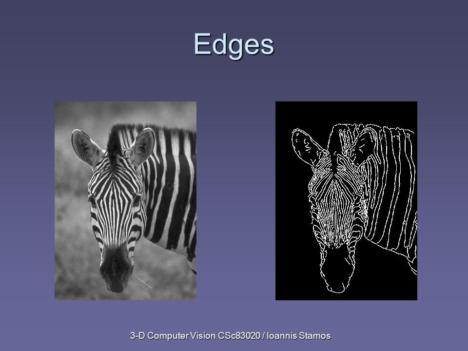 3-D Computer Vision CSc83020 / Ioannis Stamos Edges