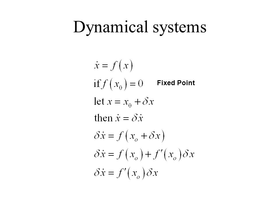Dynamical systems Fixed Point