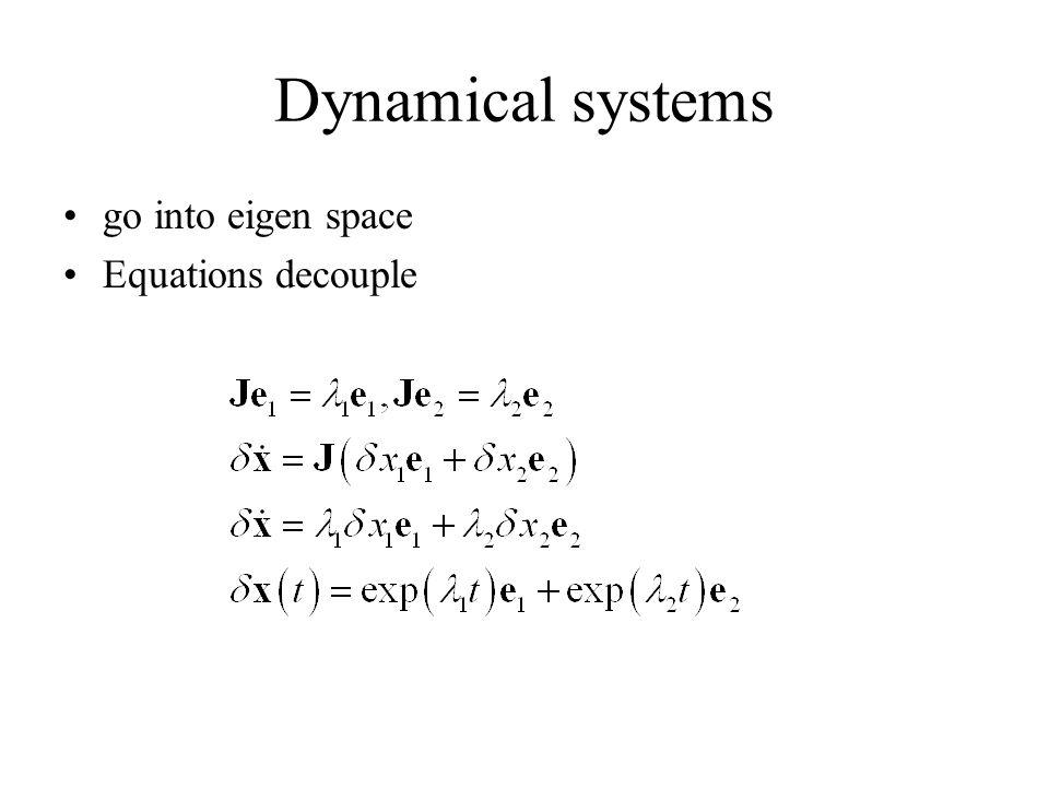 go into eigen space Equations decouple
