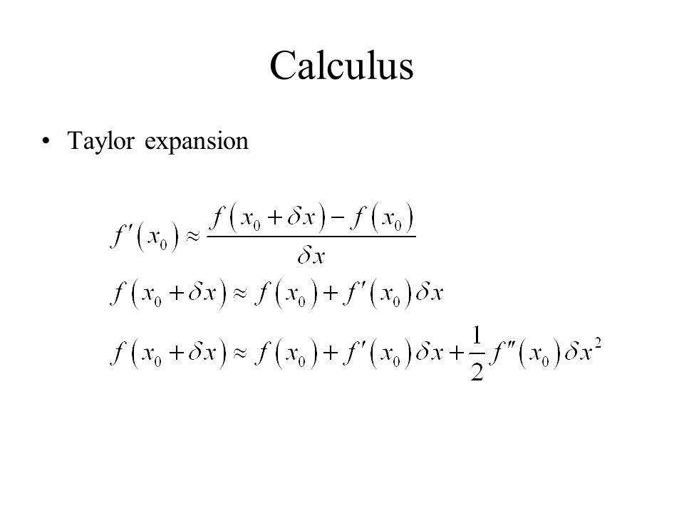 Calculus Taylor expansion