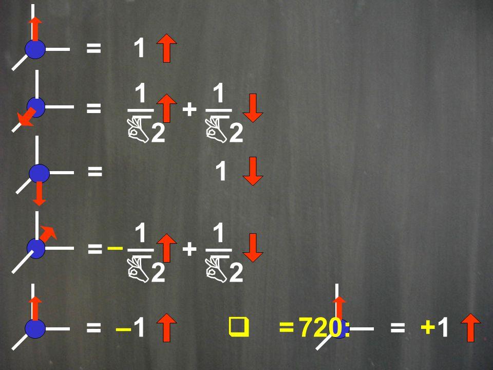 = + _ 1 B2B2 _ _ 1 B2B2 _ = 1 = 1 =+ _ 1 B2B2 _ _ 1 B2B2 _ – = 1– = 1+q = 720:
