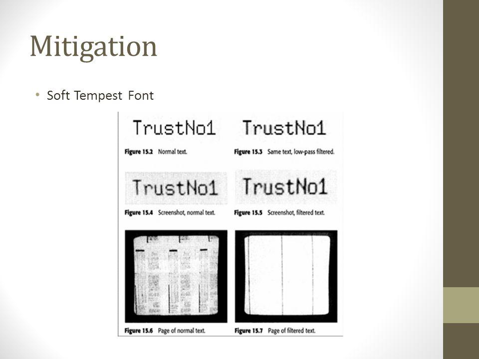 Mitigation Soft Tempest Font