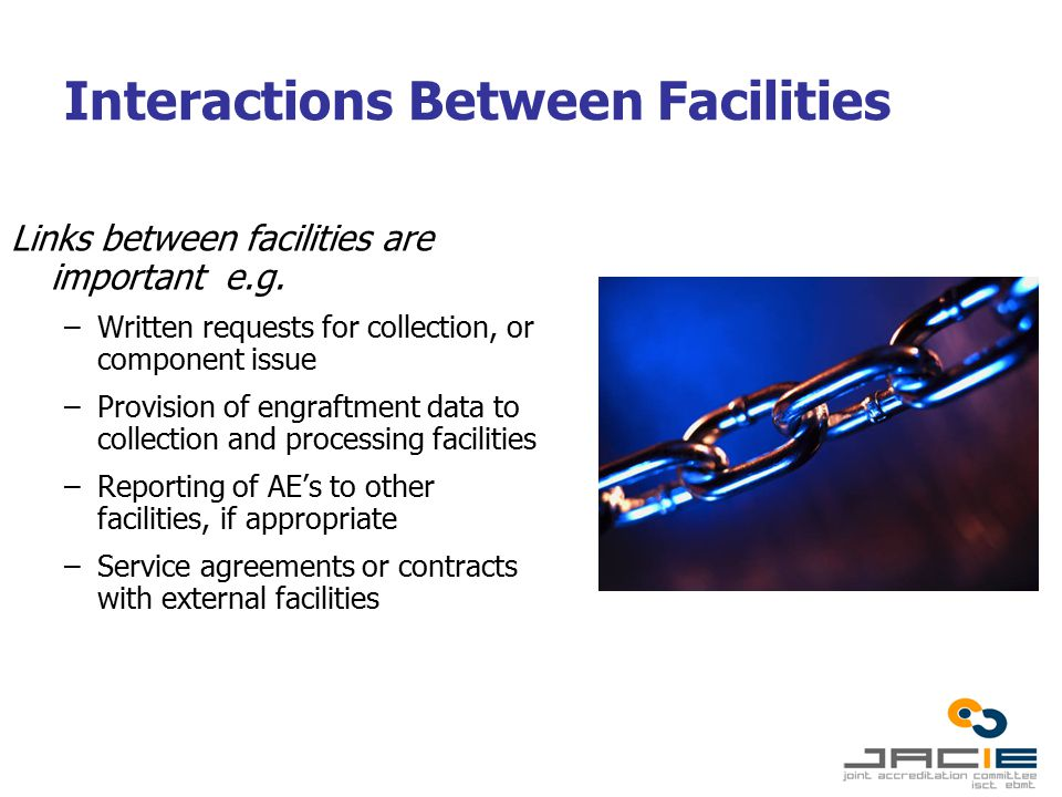 Interactions Between Facilities Links between facilities are important e.g.