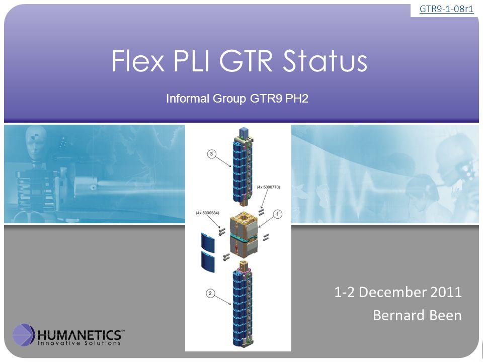 Content ► Number of GTR legs manufactured ► Flex Status ► Leg availability GTR9-1-08r1