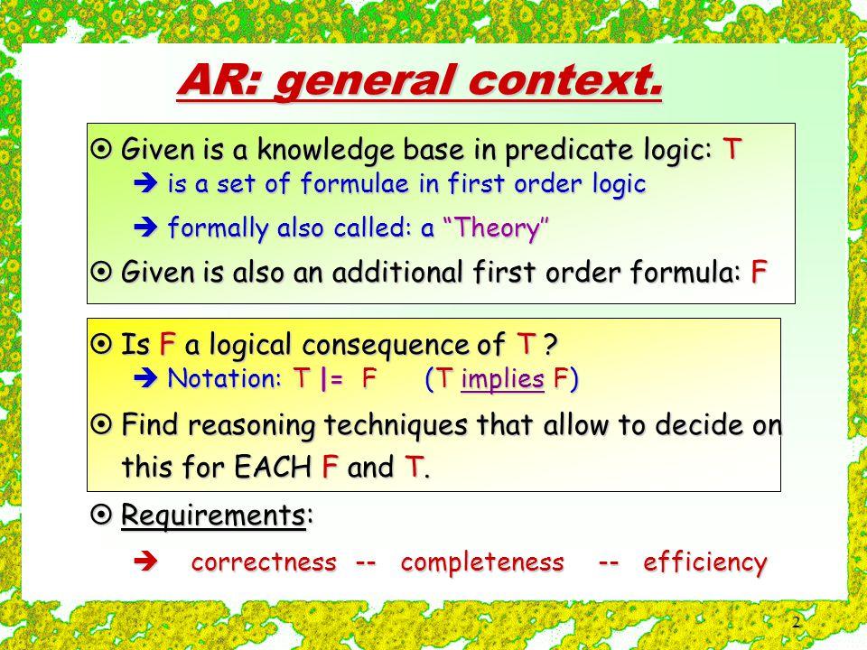 2 AR: general context.