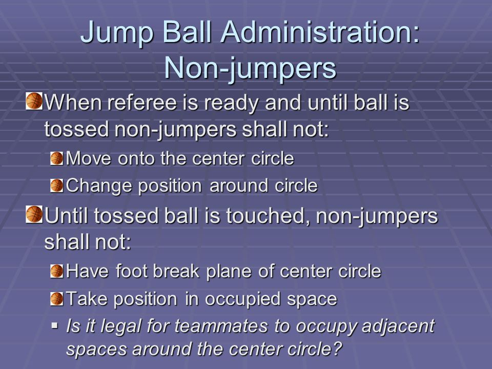 Situation #13 During the opening jump, the ball is tapped and bounces into the lane nearest A's basket when a double personal foul is called on A3 and B4.