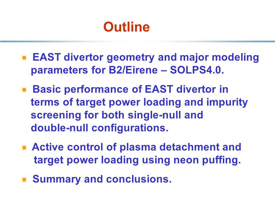 Outline HT-7 belt limiter EAST divertor geometry and major modeling parameters for B2/Eirene – SOLPS4.0.