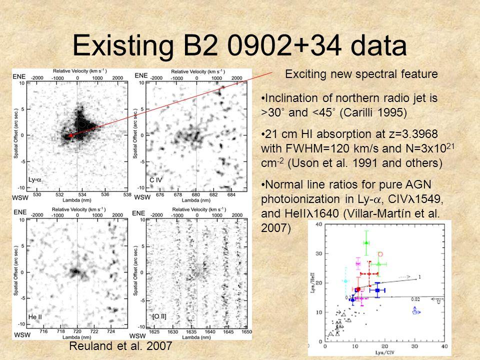 Existing B2 0902+34 data Reuland et al.