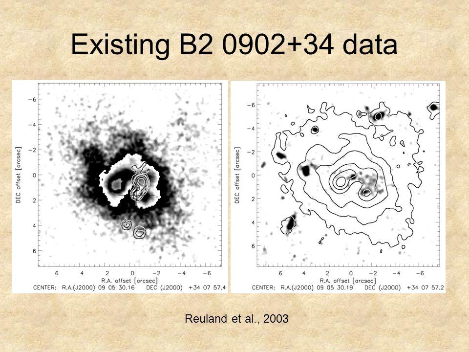 Existing B2 0902+34 data Reuland et al., 2003
