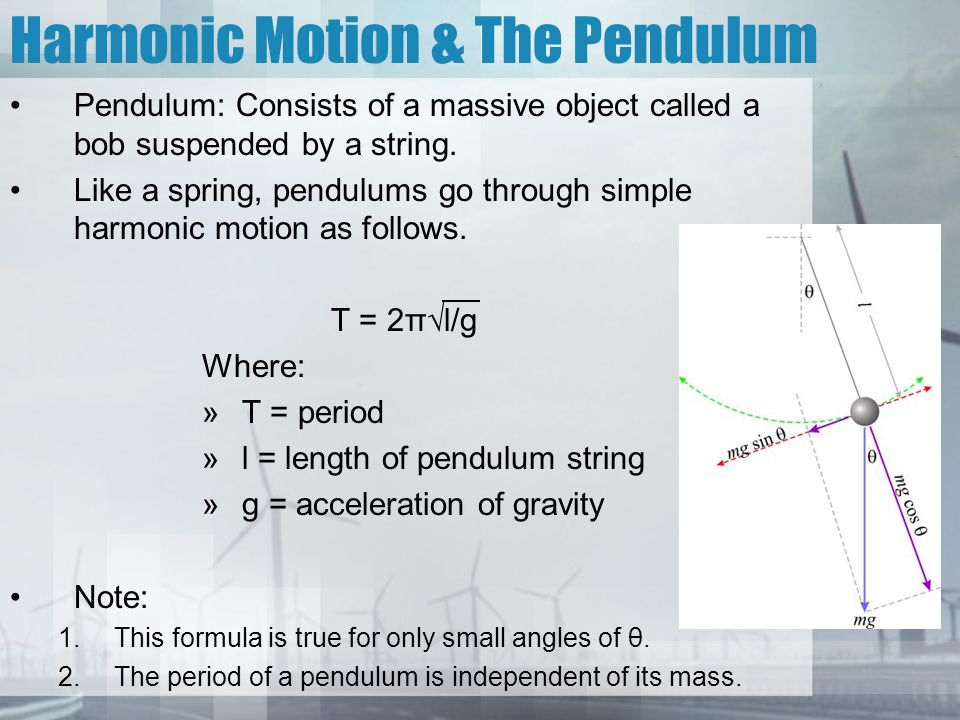 Simple Harmonic Motion & Springs At maximum displacement (+ x): –The Elastic Potential Energy will be at a maximum –The force will be at a maximum.