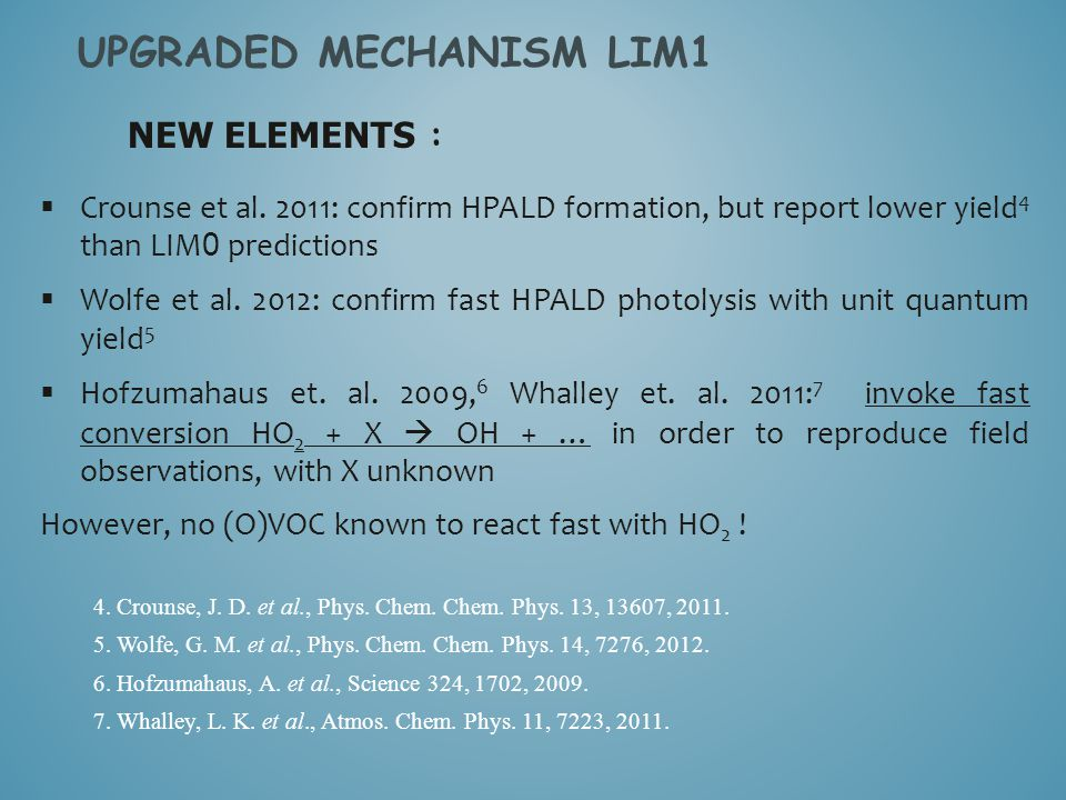 UPGRADED MECHANISM LIM1  Crounse et al.