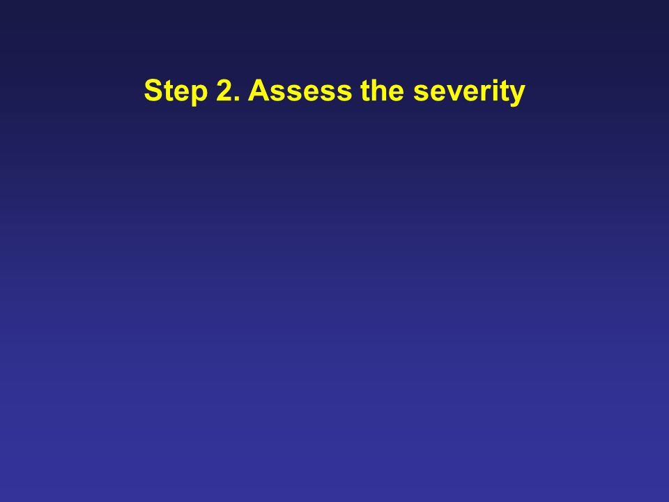 Step 2. Assess the severity